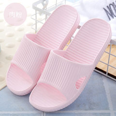 2018 new EVA rubber and plastic cool slippers for men and women soft-bottom anti-skid bathroom slipp Meat powder Suitable for 35-240 yet