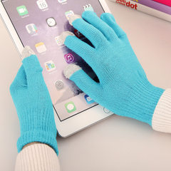 Touch screen gloves men`s thermal touch screen gloves lovers` electric capacitor gloves women`s glov Randomly send