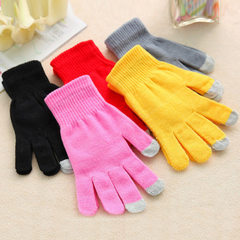 The new winter thickening fleece warm touch screen gloves touch screen gloves magic gloves manufactu Many mixed hair All code