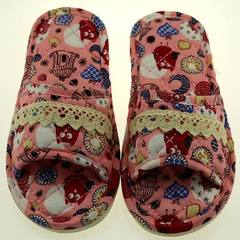 Manufacturer wholesale new style cartoon children do not fade color all cotton slippers cloth art so red 20-21 (4-7 years old)
