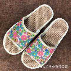 New linen slippers can be machine-washed slippers summer anti - skid home slippers business ultra -  The sun chrysanthemum 35 and 36 women