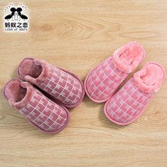 Warm cotton slippers autumn new lovers cotton mop 6022 winter men`s household women`s tartan slipper Female two color Male, 280-290