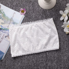 Hot style lace lace lace lace strapless short style booby-wrap around the word anti-light wipe girls white All code