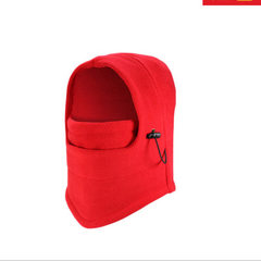 Winter outdoor cycling wind - proof flying tiger cap with CS hat fleece cap cycling mask thickening  red All code