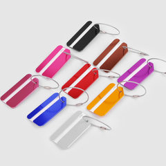 Luggage check dog tag aluminum luggage tag boarding pass pure metal can be customized business gifts red