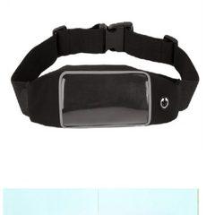 批发 触屏隐形户外跑步骑行背包弹力腰包防盗防水手机莱卡腰包 黑色 5.5寸以下手机