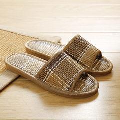 2018 new rattan grass slippers market slippers women`s wooden floor slippers indoor and outdoor bamb Lattice coffee 35/36