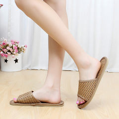 Natural tropical yuteng lovers house slippers rattan straw men and women running river slippers bamb Natural vine colour 36 and 37