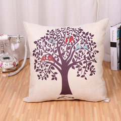 Modern simple life tree holding pillow cover sofa cushion for leaning on car cushion for leaning on  Tree of life -A(without core) 45 * 45 cm