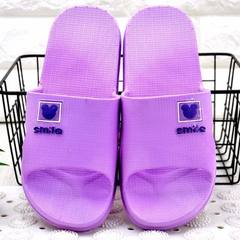 New style men and women slippers summer home Korean version slippers simple lovers indoor bathroom c purple 37