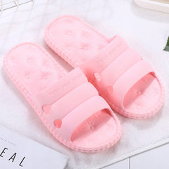 New summer couples bathroom anti-slip soft-sole slippers indoor and outdoor slippers men PVC slipper T008 pink 36 and 37