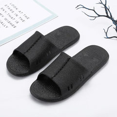 Bathroom slippers cool slippers female lovers home anti-slippery slippers summer bath soft-sole hous black 36-37/38-39/40-41