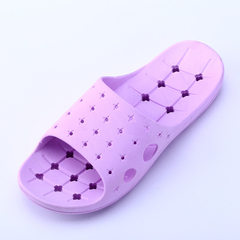 Indoor bathroom at home four seasons slippers summer new female household lovers soft bottom anti-sl purple Female 36-37