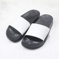 Summer home anti-slippery cool slippers men and women can customize the LOGO custom text design of p white 36/37