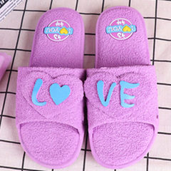 2017 new bathroom slippers summer home couples anti-skid bath men and women`s indoor floor cool slip purple 37