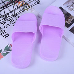 2018 new simple monochrome summer elegant slippers PVC creative household lovers bathroom slippers a purple 36