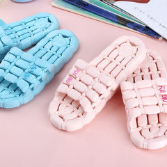 Bathroom slippers hotel toilet slippers anti-slip water leakage cool slippers girls plastic slippers red S code (36/37)