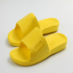Manufacturer wholesale autumn winter new style men and women`s home EVA leaky bathroom slippers hous yellow 36