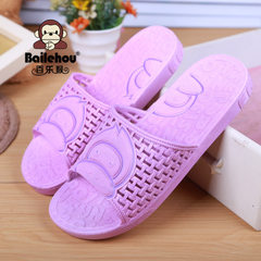 Summer bathroom slippers summer lovers slippers wholesale inside anti - slippery thick plastic home  purple 36