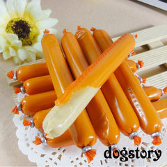 Chicken sausage 6 stuffed with ham/sausage dogstory pet training food dog snack Chicken flavor