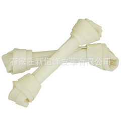 Factory supply direct 25 cm cow leather bleaching boneless pet snacks pet food chewing gum dog food Natural flavor