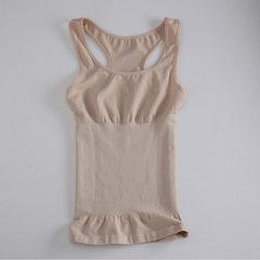 新款品牌塑身背心上衣女士收腹收胃束缚束腰内衣美体束身背心批发 杏色 均码