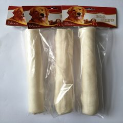 Factory direct selling 25 cm cowhide foaming rolls stick pet dog chewing gum molar teeth cleaning ro The milk taste