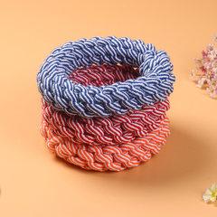 厂家直销 棉绳玩具宠物 编织棉绳麻花圈玉米棒 狗狗磨牙洁齿绳结 直径约19cm