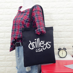 New style Korean canvas shopping bag hot style creative letter printing women`s single shoulder bag  1
