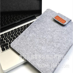 Manufacturer direct selling felt laptop iPad cover MacBook liner can be customized Light grey 11