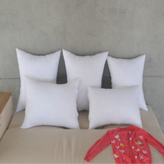 Cushion for leaning on core 35*55 factory direct sale ground wool cloth holds pillow core sofa waist White roses press the flowers 35 * 55 = 500 g