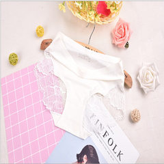 New ice silk fabrics a piece of seamless sexy underwear in the waist and buttock triangle pants wome white All code