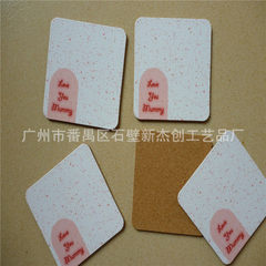 New jiachang cork medium fiber board cork cup pad PVC cup pad customized cup pad can be printed LOGO white circular