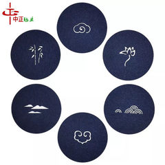 Color heat insulation felt cup mat fashionable creative hollow-out dining mat gift promotion with ex red