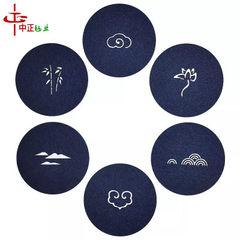 彩色 隔热 毛毡杯垫时尚创意镂空餐垫 礼品促销赠送 加印Logo 红色