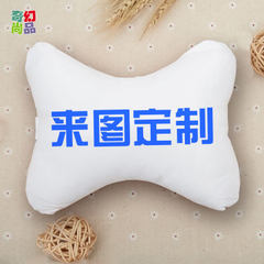 Four seasons general motors headrest customized logo car seat neck bone pillow custom-made for a rep Support for drawing customization