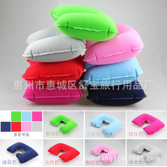 Manufacturer directly for travel pillow inflatable pillow flocking pillow pillow pillow pillow pillo optional 27 * 44 cm