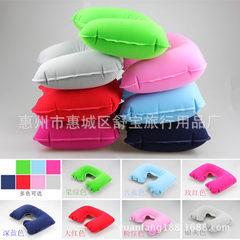 厂家直供旅行枕充气枕植绒枕头枕U型枕吹气枕颈枕 可选 27*44cm