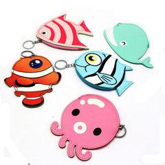 新款卡通零钱包 创意海洋鱼类硬币包 迷你小钱包儿童小礼品批发 粉