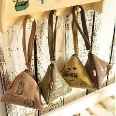 0132 South Korea lovely creative wallet canvas retro zongzi zero purse coin bag customized and print The tower