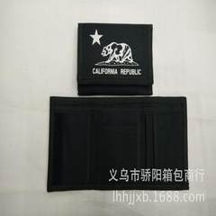 Our professional custom wallet is made of 600D polyester fabric with black thickening. red