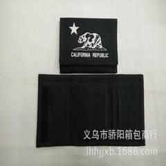 来样来图 厂家专业定做钱包 采用黑色加厚600D涤纶布材料生产。 红色
