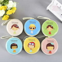 South Korea creative British style tinplate receive a box of iron round purse mini key earphone pack Many mixed hair