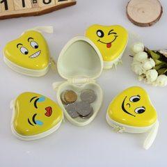 马口铁硬币韩国马口铁笑脸零钱包迷你便携耳机包硬币钥匙包可定做 露牙齿