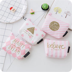 Little pink purse coin purse mini creative zero purse student holds the key to the bag Article oblique