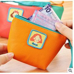 0452 factory direct sale small fresh PU square zero purse creative hand carry bag key bag coin bag green
