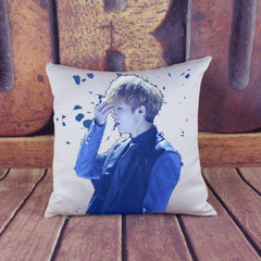 Custom-made star holds pillow case Lu Han digital printing cushion for leaning on car waist relies o Lu Han - 01 45 * 45 cm