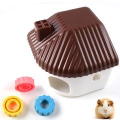 民居睡房 仓鼠窝笼 可搭配小宠专用窝笼使用 厂家直销 咖啡色