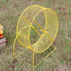 Manufacturer wholesale small pet sports fitness toys hamster running wheel hamster small animal supp Green, yellow, blue, purple 5.75 inches 14.5 * 10.5 * 20 cm