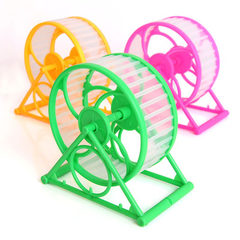 Wholesale hamster running wheel cage gold silk bear products rotating wheel fitness roller sports wh Multicolor random See the description